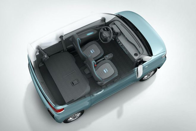 Cận cảnh ô tô điện giá 96 triệu đồng của Trung Quốc, nhái Kia Morning - Ảnh 5.