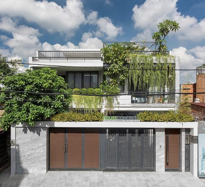 Tp.HCM: Căn nhà tạo sự ảo giác, có hồ cá Koi và vườn cây trên sân thượng - Ảnh 1.
