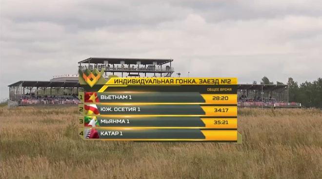 Rất bất ngờ, Đội Việt Nam bị tụt hạng, xếp thứ 2 dù về đích đầu tiên ở Tank Biathlon 2020 - Ảnh 1.