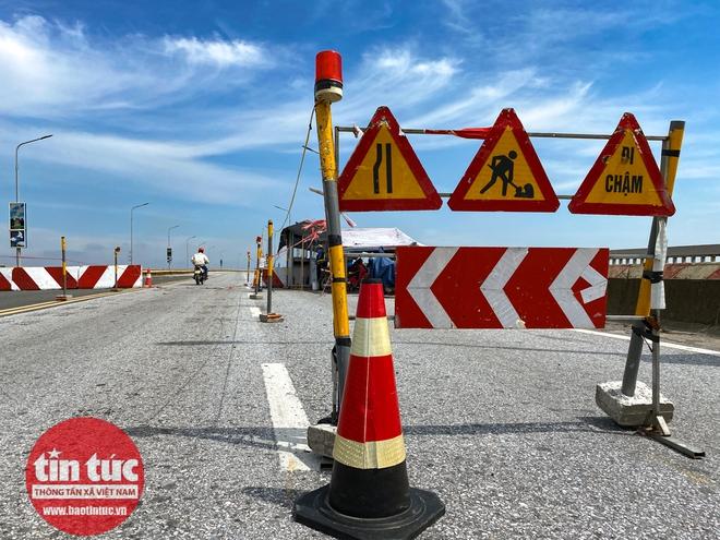 Toàn cảnh công trường sửa chữa cầu Thăng Long - Ảnh 3.