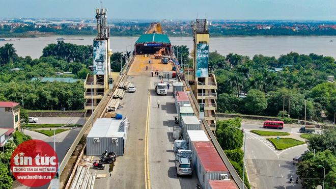 Toàn cảnh công trường sửa chữa cầu Thăng Long - Ảnh 4.