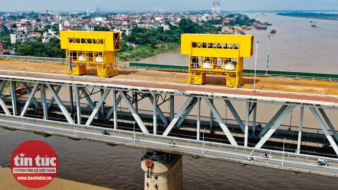 Toàn cảnh công trường sửa chữa cầu Thăng Long - Ảnh 7.