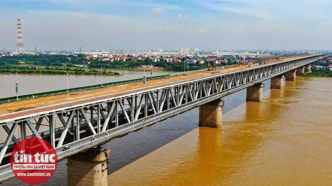 Toàn cảnh công trường sửa chữa cầu Thăng Long - Ảnh 8.