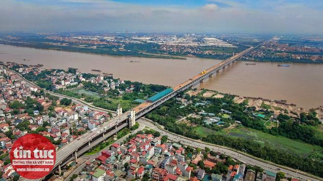 Toàn cảnh công trường sửa chữa cầu Thăng Long - Ảnh 10.