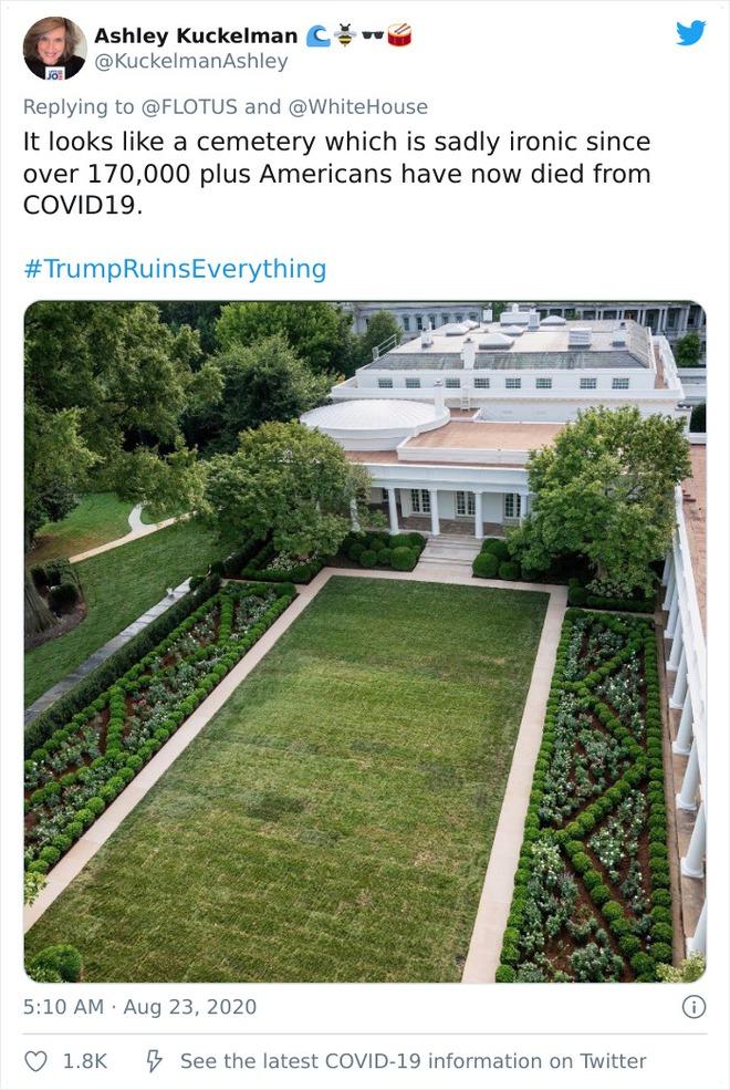 Dân mạng thi nhau post ảnh mỉa mai Đệ nhất phu nhân Mỹ Melania đã làm hỏng Vườn Hồng - Ảnh 7.