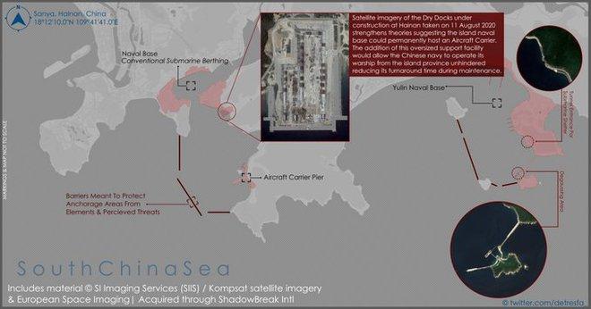 Lộ diện cơ sở hải quân bí mật của TQ: Tàu sân bay sẽ thường trực hiện diện ở Biển Đông? - Ảnh 1.