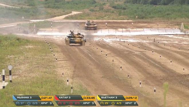 Kíp 3 Đội xe tăng Việt Nam thi đấu Tank Biathlon 2020: Thần tốc, dũng mãnh - Lật đổ ngoạn mục vào thẳng bán kết - Ảnh 2.