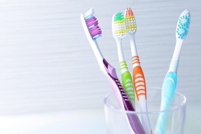 Cốc đựng bàn chải đánh răng là món đồ chứa rất nhiều vi khuẩn.