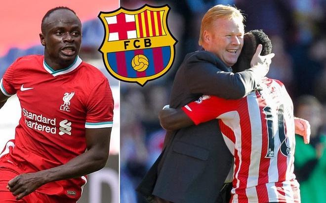 Sadio Mane sẵn sàng tái hợp với HLV Ronald Koeman tại Barca