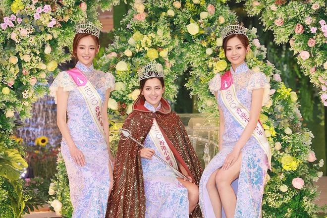 Nhan sắc nóng bỏng, lai Tây của Hoa hậu Hong Kong 2020 - Ảnh 1.