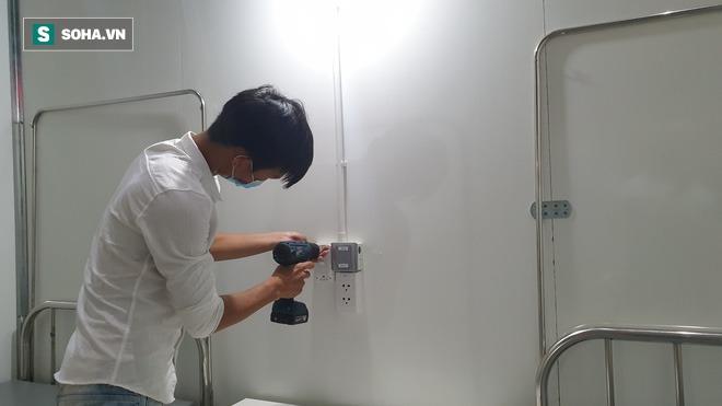 Cận cảnh bệnh viện dã chiến xây thần tốc trong 4 ngày tại Đà Nẵng trước giờ bàn giao - Ảnh 3.
