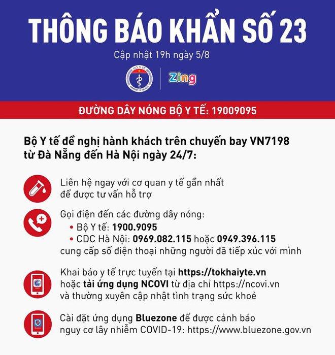 Thông báo khẩn tới hành khách trên chuyến bay VN7198 từ Đà Nẵng đến Hà Nội ngày 24/7 - Ảnh 1.