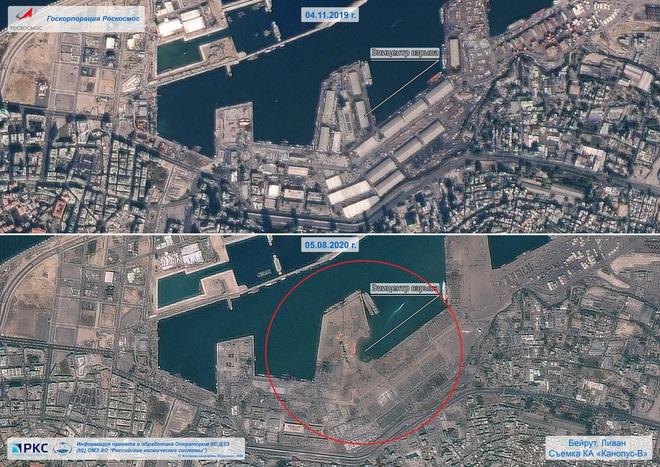Vụ nổ cực lớn ở Li-băng: Nga công bố ảnh vệ tinh gây sốc - Ảnh 3.