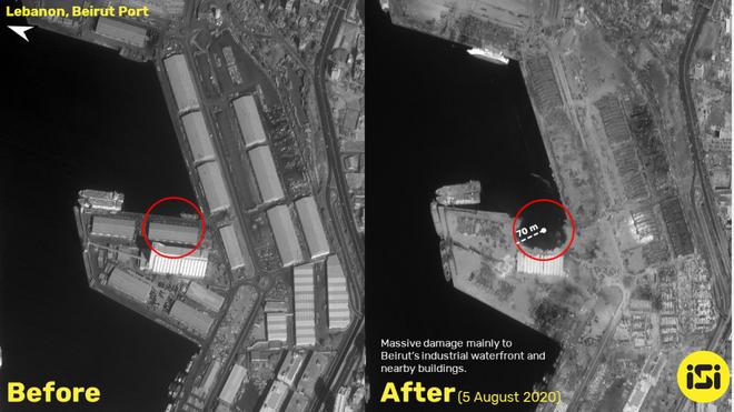 Vụ nổ cực lớn ở Li-băng: Nga công bố ảnh vệ tinh gây sốc - Ảnh 5.