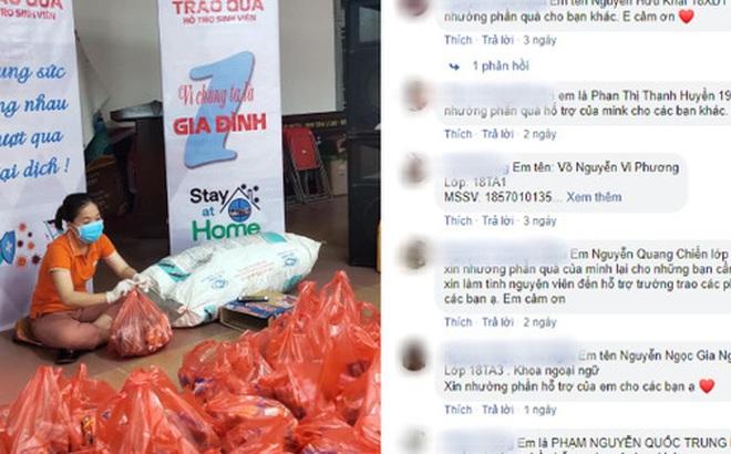 Chuyện cảm động mùa dịch: Hàng trăm sinh viên Đà Nẵng tình nguyện nhường suất hỗ trợ cho người có hoàn cảnh khó khăn
