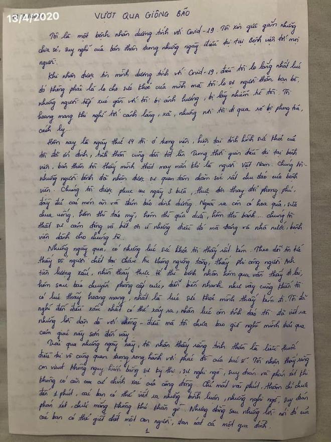 Nữ bệnh nhân mắc COVID-19 từ bệnh viện Bạch Mai kể về nỗi sợ hãi trong suốt 85 ngày điều trị - Ảnh 2.