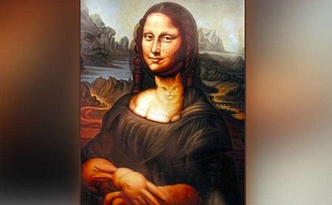 Phải tinh mắt lắm mới thấy chú chó trong bức tranh Mona Lisa: Bạn tìm ra không?