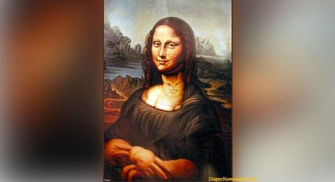 Phải tinh mắt lắm mới thấy chú chó trong bức tranh Mona Lisa: Bạn tìm ra không? - Ảnh 1.