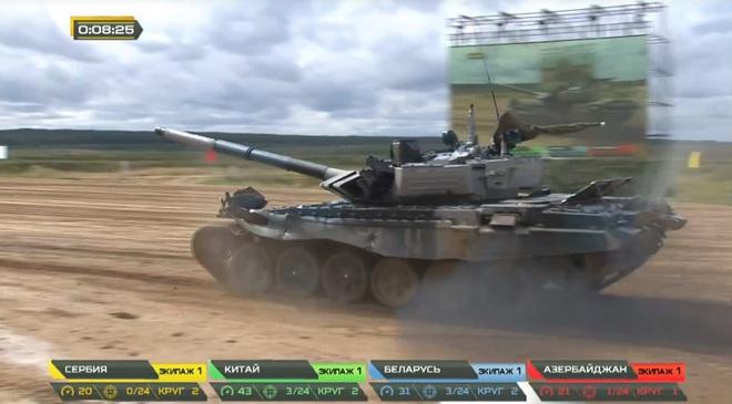 Tank Biathlon 2020: Xe tăng Trung Quốc bị hỏng, đứng yên giữa đường đua, chỉ huy rất lo lắng - Tụt lại phía sau rồi - Ảnh 2.