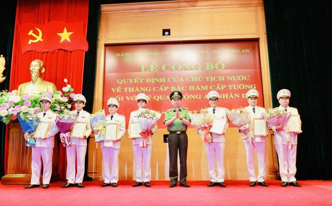 9 cán bộ ngành công an vừa được thăng hàm Trung tướng, Thiếu tướng là ai?