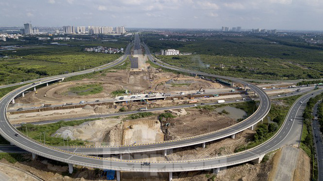 Toàn cảnh đại công trường 402 tỷ đồng nối vành đai 3 với cao tốc Hà Nội - Hải Phòng - Ảnh 1.