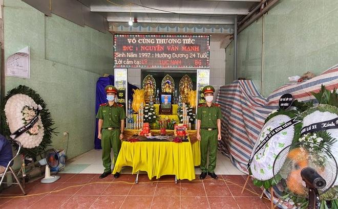 Thăng quân hàm Thượng sỹ cho chiến sỹ cảnh sát cơ động ở Bắc Giang hy sinh khi làm nhiệm vụ