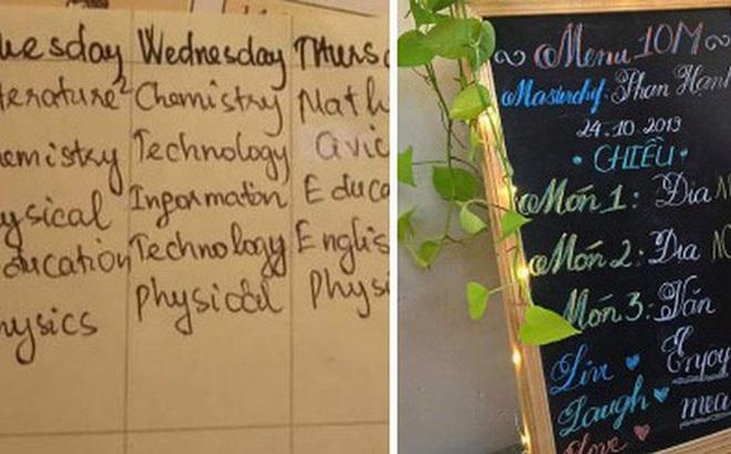 Những cách ghi thời khoá biểu hại não của học trò: Full tiếng Anh, ký tự ví von đỉnh cao, có cả thực đơn môn học