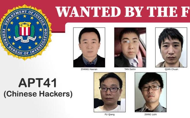 FBI đưa 5 tin tặc Trung Quốc vào danh sách truy nã, cáo buộc nhóm này từng tấn công mạng Internet ở Việt Nam