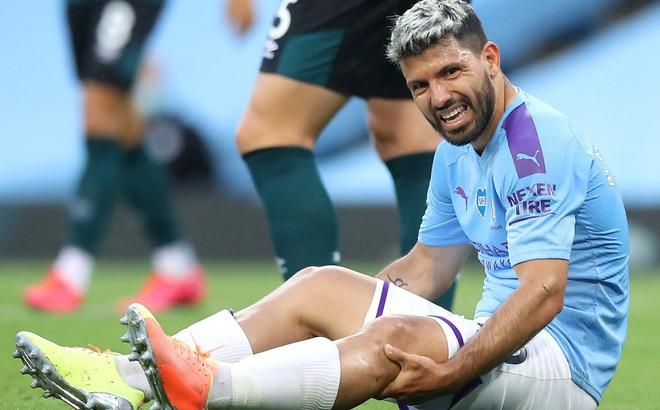 Ngôi sao Aguero lại mang tin cực buồn tới cho Man City