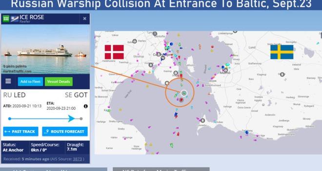 NÓNG: Tàu chiến hiện đại của Hải quân Nga bị đâm ở Đan Mạch - Ảnh 2.