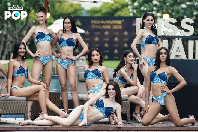 Dàn thí sinh Miss Universe Thái Lan 2020 khoe dáng nóng bỏng khuấy động phần thi bikini - Ảnh 1.