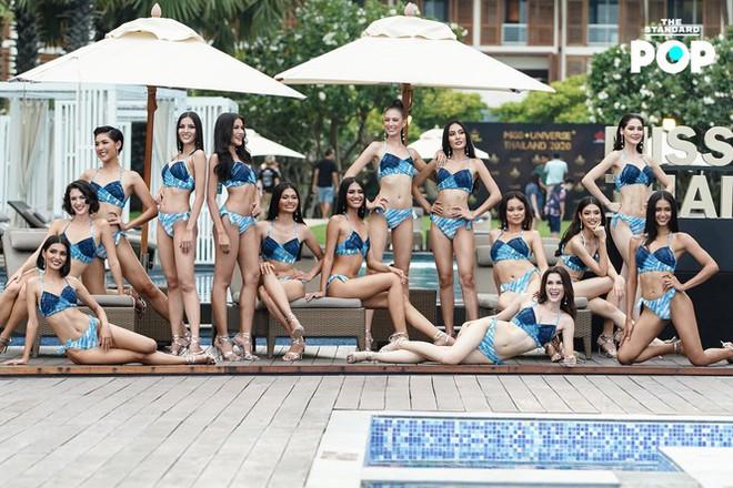 Dàn thí sinh Miss Universe Thái Lan 2020 khoe dáng nóng bỏng khuấy động phần thi bikini - Ảnh 2.