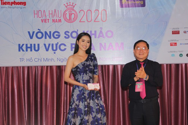 Thí sinh cao nhất Hoa hậu Việt Nam 2020 với 1m84: Vào Bán kết làm em bất ngờ và bối rối - Ảnh 4.