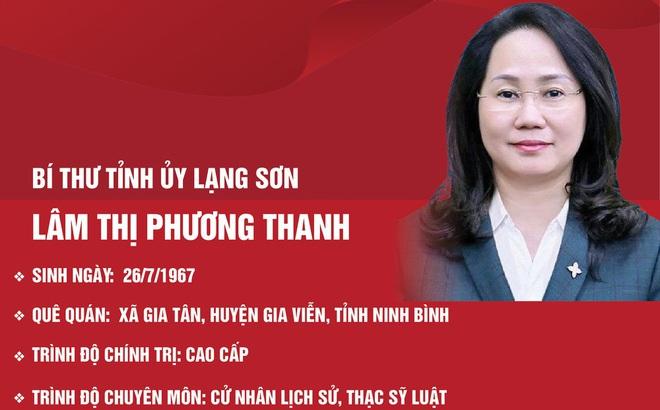 Chân dung Bí thư Tỉnh ủy Lạng Sơn Lâm Thị Phương Thanh