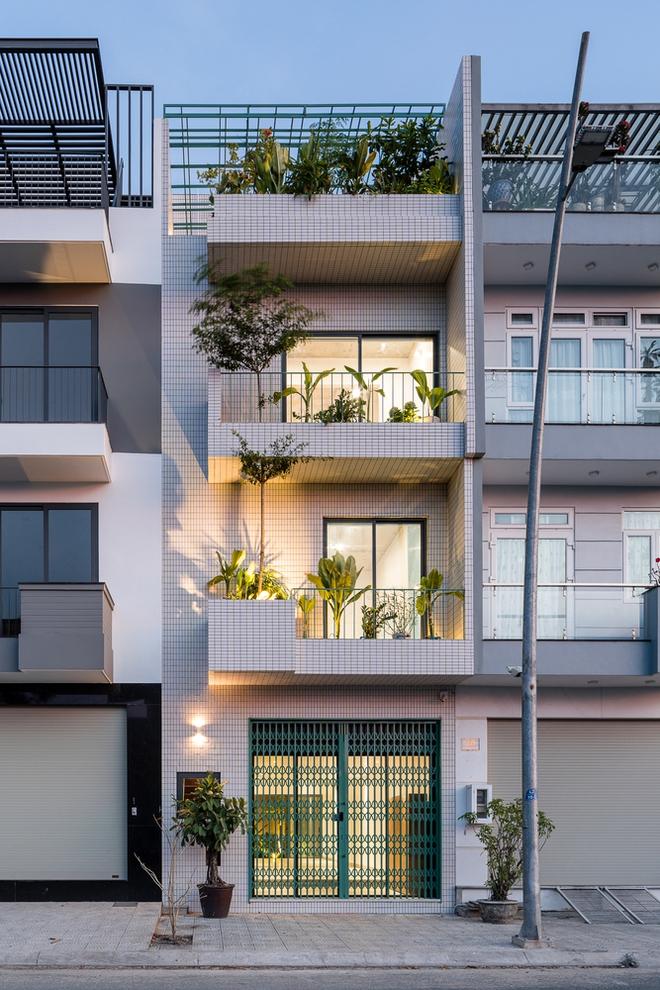 Lạ mắt với căn nhà có cầu thang xanh ngắt, bao phủ bởi khu vườn nhiệt đới - Ảnh 1.