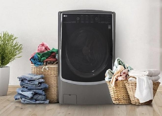 Máy giặt lồng ngang trên 14kg bay cả chục triệu, nhiều chiếc có chức năng sấy tiện lợi - Ảnh 1.