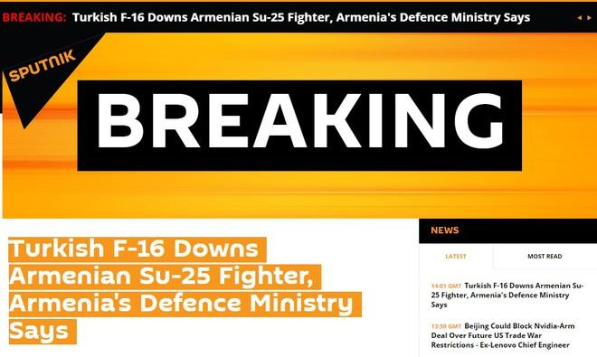 Tiêm kích F-16 Thổ Nhĩ Kỳ vừa bắn hạ 1 Su-25 Armenia - Chiến sự nóng rực, S-300 cơ động khẩn cấp - Ảnh 2.