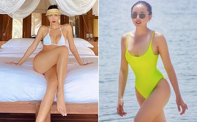 Kỳ Duyên tung ảnh bikini gợi cảm khi du lịch cùng Minh Triệu