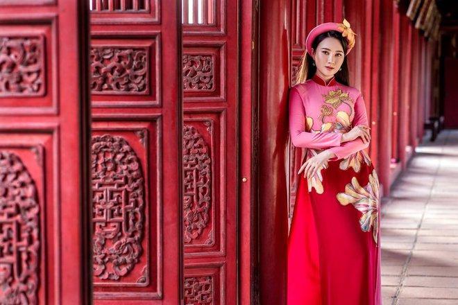 Mỹ nhân có mái tóc đẹp nhất Hoa hậu Việt Nam 2016 duyên dáng trong tà áo dài - Ảnh 5.