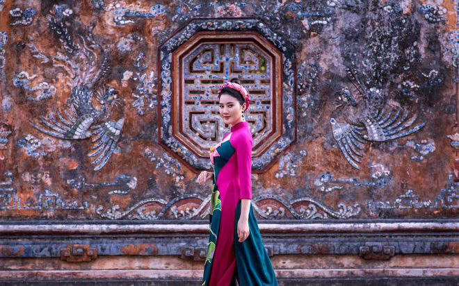 Mỹ nhân có mái tóc đẹp nhất Hoa hậu Việt Nam 2016 duyên dáng trong tà áo dài - Ảnh 8.