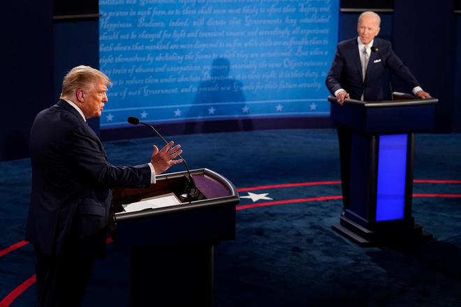 Buổi tranh luận tổng thống đầu tiên: Ông Trump tuyên bố Đừng bao giờ nghi ngờ trí thông minh của tôi - Ảnh 1.