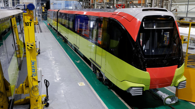Ngày 24/10, đoàn tàu metro Nhổn - Ga Hà Nội từ Pháp về đến Việt Nam - Ảnh 2.