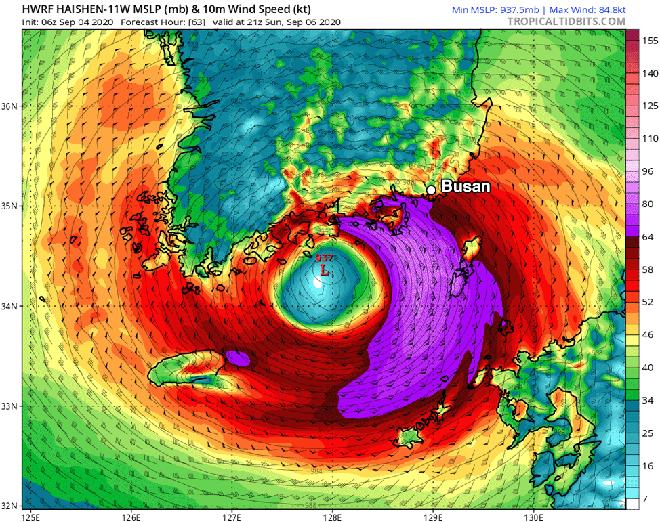Cơn bão mạnh thứ 3 hành tinh năm 2020 sắp vào đất liền: Hàn Quốc sẽ có cuộc đổ bộ lịch sử? - Ảnh 2.