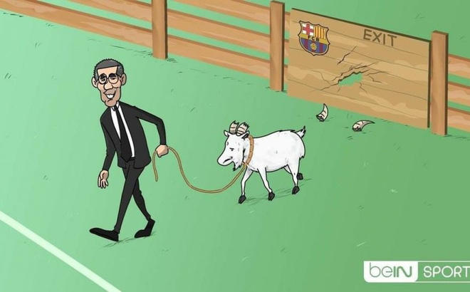 Biếm Họa 24h Chủ Tịch Josep Maria Bartomeu đanh Bại Messi