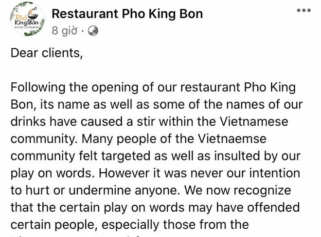 """Nhà hàng bán ẩm thực Việt ở Canada chế giễu phở Việt bị nhận """"mưa đá"""" của cư dân mạng - Ảnh 1."""
