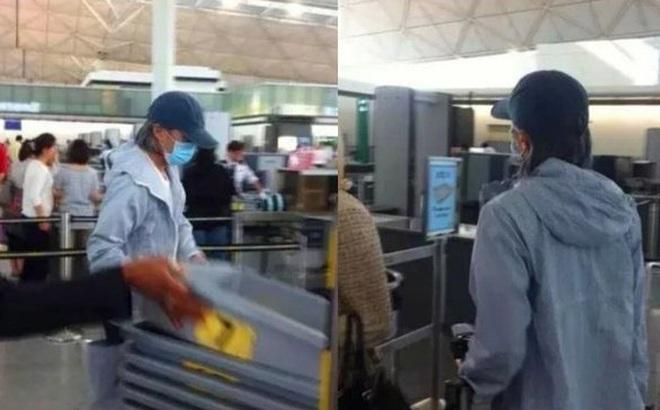 Sau ồn ào nợ nần Châu Tinh Trì một mình ra sân bay không có trợ lý hay người thân đi cùng