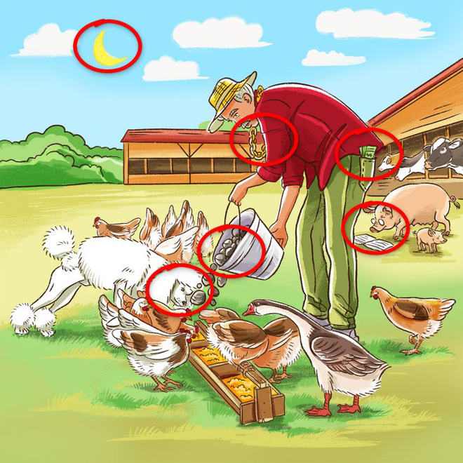 Thách thức thị giác 5 giây: Đố bạn phát hiện ra chi tiết sai trong bức tranh này - Ảnh 3.
