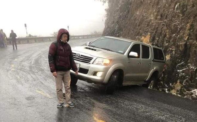 Nhiều phương tiện gặp nạn trên đèo Ô Qúy Hồ - Sa Pa do mặt đường đóng băng