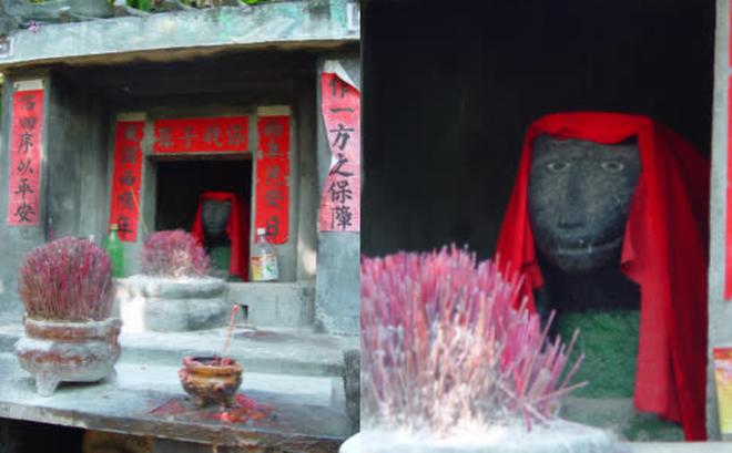 Bước vào đền thờ trang nghiêm, du khách giật mình vì tướng mạo 'vị thần' trú ngụ bên trong