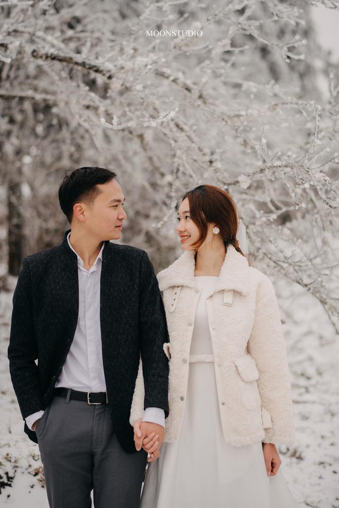 Thành quả của cặp đôi Hà Nội chụp ảnh cưới giữa mưa tuyết ở Y Tý: Sự tình cờ đầy may mắn - Ảnh 1.